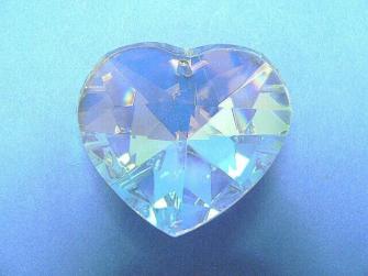 Kristallglas Herz 40mm farbig