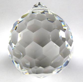 Kristallglas Kugel 40mm Sechseck-Facetten