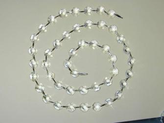 Kristallglas 95cm-Kette mit Achtecken 14mm