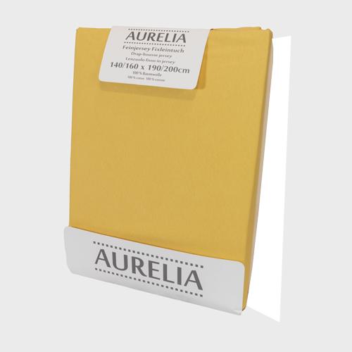 AURELIA Fixleintuch-Jersey 160x200 Banana creme/Gold