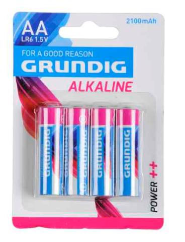 Batterien Alkaline LR6 AA 4 Stk Grundig