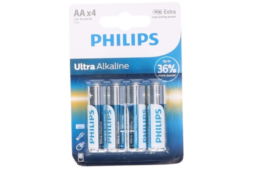 Batterien LR6/AA 4 Stück Philips Alkaline