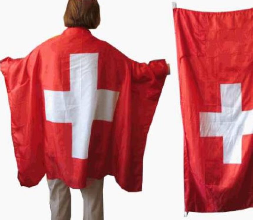 Schweiz Fahnenumfang 90x140cm