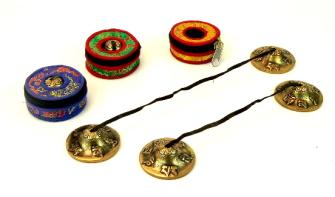 Zimbel Bronze in Etui diam. 6cm NEPAL