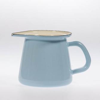 Emaille Hellblau uni Kännchen 11cm  0,7 Liter