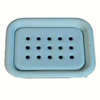 Emaille Seifenschale zum Stellen 2-teilig, Hellblau