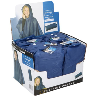 Regenponcho mit Kapuze für Erwachsene