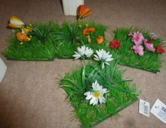 Rasenfliese mit Blumen 12.5x12.5cm 4ass