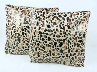 Kissen 2erSET Puma Fell-Design lederartig 42*42cm,350g