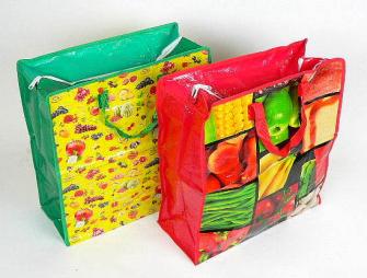 Einkaufstasche ass. mit Reissverschluss 40*50*20cm ass 1 Farbe pro IK
