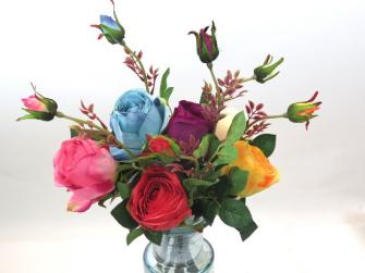 Rose 2 Blüten 40cm 5ass