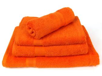 Smooth Frottierwäsche Badetuch 500 gsm 100x150 cm Orange
