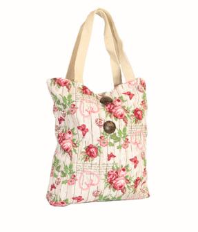 Tasche Rose 100% Baumwolle 40x45cm