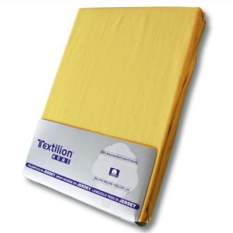 Textilion Fixleintuch-Jersey 150 gsm 120x200 cm Zitronengelb
