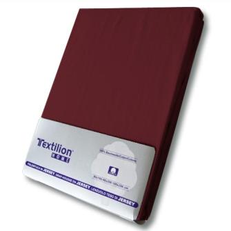 Textilion Fixleintuch-Jersey 150 gsm 160x200 cm Burgund