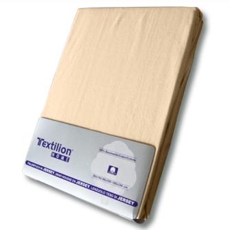 Textilion Fixleintuch-Jersey 150 gsm 160x200 cm Pfirsich