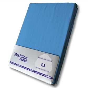 Textilion Fixleintuch-Jersey 150 gsm 160x200 cm Blau