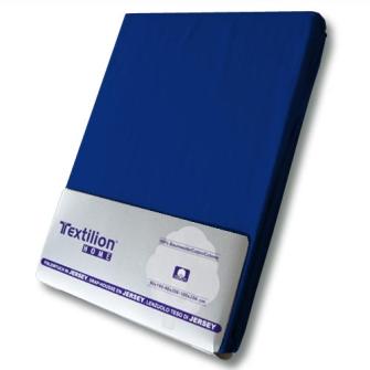 Textilion Fixleintuch-Jersey 150 gsm 160x200 cm Dunkel-Blau
