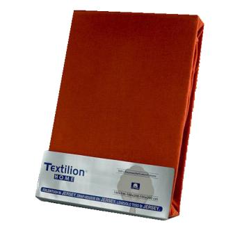 Textilion Fixleintuch-Jersey 150 gsm 160x200 cm Rostbraun