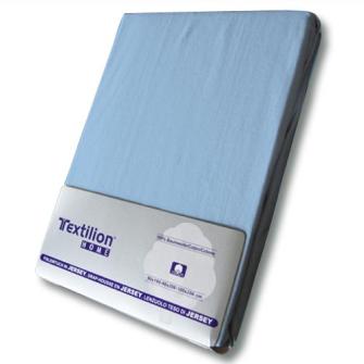 Textilion Fixleintuch-Jersey 150 gsm 160x200 cm Hellblau