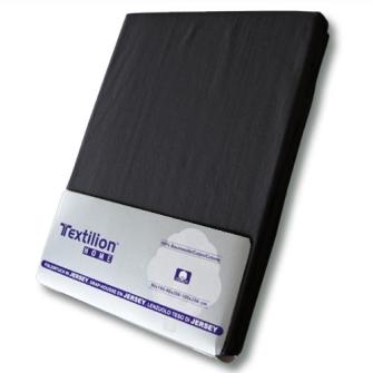 Textilion Fixleintuch-Jersey 150 gsm 160x200 cm Schwarz