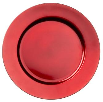 Dekoteller Rot 33cm PVC