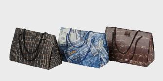 """Geschenktasche """"Handtasche"""" 20.5x37cm 3ass"""