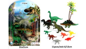 Tiere Spielset 11tlg Dinosaurier 13cm