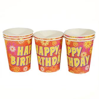 Pappbecher 8erSet Happy Birthday