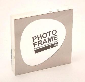 Fotorahmen Acrylglas schwer Metalrahmen 10x10cm