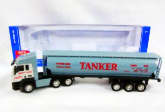Truck mit Aufschrift Tanker im Sichtkarton 11x36x7cm