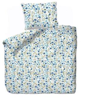 Bettgarnitur Blumen blau 160x210cm + 65x100cm 60% Cotton 40% Polyester