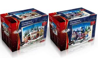 Weihnachtsbuch Polyresin 16LED 2ass im Karton 19.5x17x29.5cm
