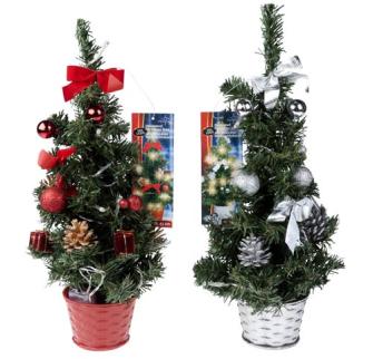 Weihnachtsbaum geschmückt und mit 20 LED 40x16x16cm