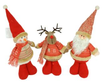 Weihnachtsfigur Plüsch 3ass 27cm