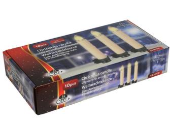 Weihnachts Baumkerzen 14cm 10er-Set mit Fernbedienung im Karton