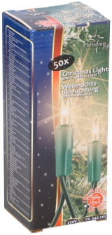 Lichterkette Weihnachten warmweiss 50 Lampen