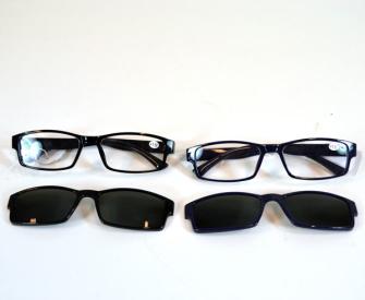 Lesebrille mit Magnetaufsatz Sonnenbrille 2ass