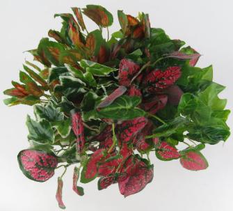 Strauss grüne oder rötliche Blätter 30cm 2ass