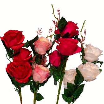 Rosenstiel 3 Blüten 82cm 4ass