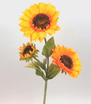 Sonnenblume 3 Blüten 85 cm