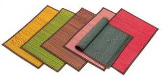 Tischset Stroh 30x44 cm uni 6ass 1farbe pro IK