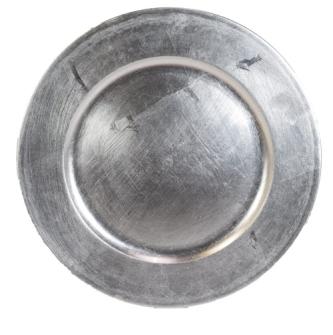 Dekoteller Silber 33cm PVC