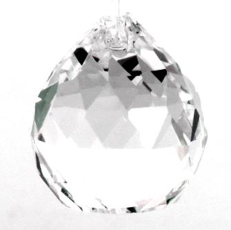 Kristallglas Kugel 30mm Dreieck Facetten