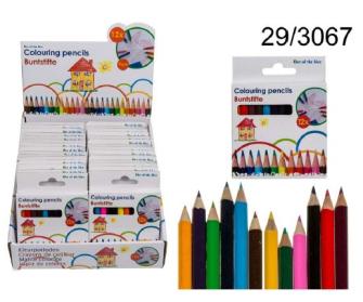 Buntstifte mini, 12-farbig, im Display