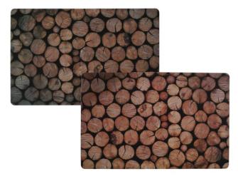 Tischset Baumstämme 43.5x26cm 2ass  im Polybeutel