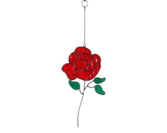 Suncatcher Rose rot Ornament 24cm BALI