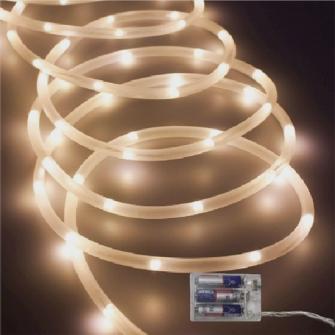 Lichtschlauch 40 LED warmweiss mit timer (ohne3xAA) 2m lang