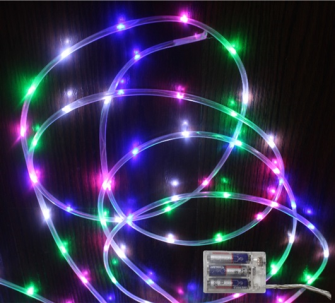 Lichtschlauch 40 LED multicolor mit timer (ohne3xAA) 2m lang