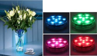LED Lichtzauber RGB Farbwechsel Fernbedienung, innen/ aussen Kunststoff (ohne 3xAAA) 7x2.5cm